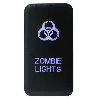 amazon com iztoss toyota blue led push switch with connector wireamazon com iztoss toyota blue led push switch with connector wire kit (zombie lights) automotive