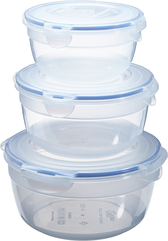 Lock/& Lock Food Storage 3 Bowl Nestable Set