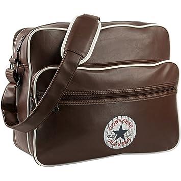 939209024eec3 CONVERSE Umhängetasche VINTAGE PATCH PU SHOULDER BAG Notebook Tasche  Regular Brown Braun