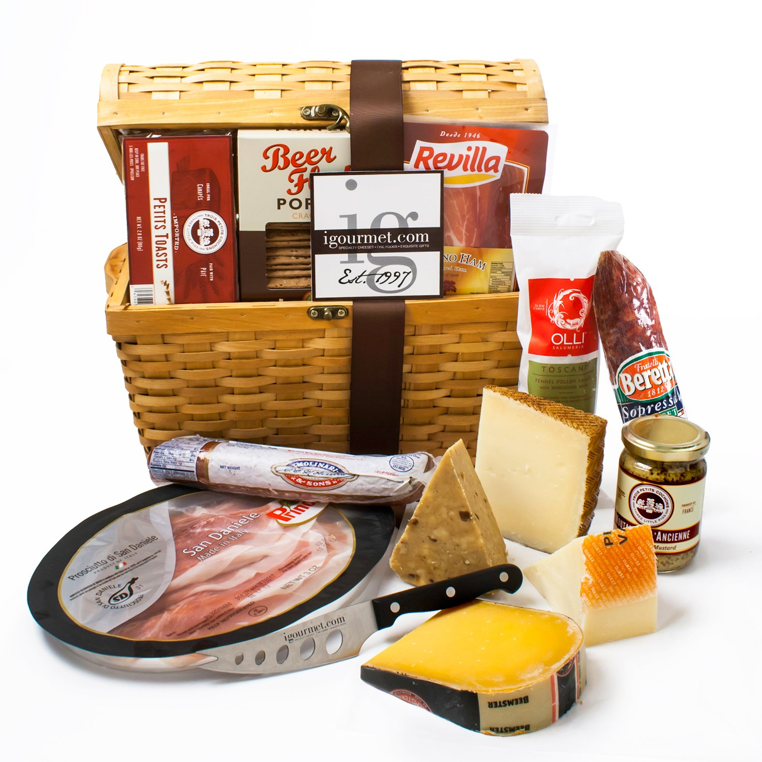 KaBloom Gift Basket Collection: Ultimate Gourmet Charcuterie and Cheese Treasure Chest