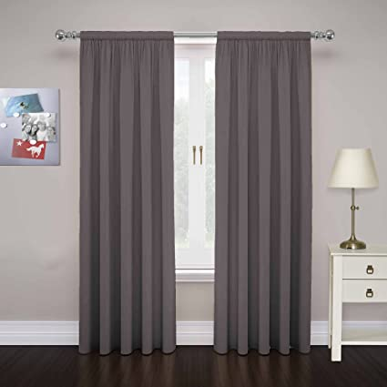 Pairs To Go 15110080X063SMK Cadenza 80 Inch By 63 Microfiber Window Panel Pair