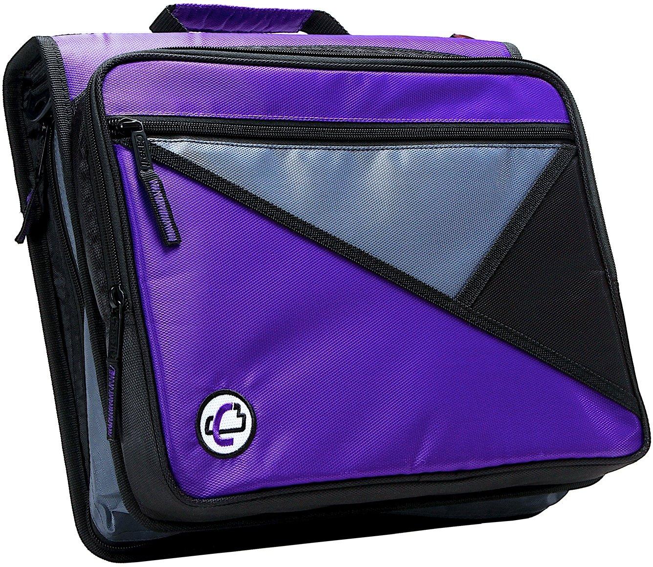 Case-it Universal 2-Inch 3-Ring Zipper Binder, Holds 13 Inch Laptop, Purple, LT-007-PUR