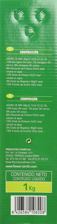 Flower 10820 10820-Abono hortensias, 1 kg, No Aplica, 7x18x25.5 cm ...
