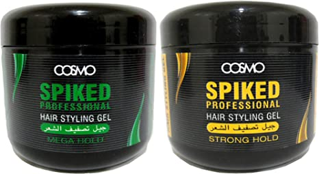 Cosmo Spiked Professional Hair Styling Gel Mega Hold 600ml Amazon Co Uk Beauty