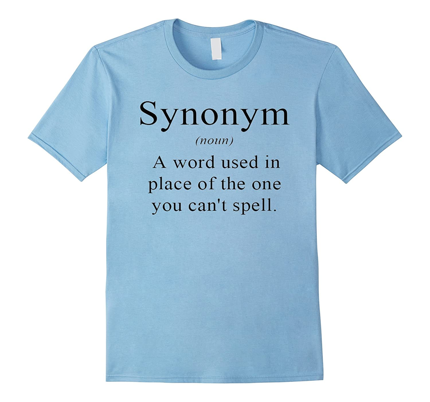 Synonym Definition Funny English Teacher Grammar T Shirt-ANZ