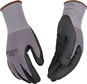 Kinco 1888 (2-Pack) - BREATHABLE NYLON KNIT SHELL - MICRO-FOAM NITRLE COATED PALM Work Gloves. Perfect Glove for all your Summer Work! (XX-Large)