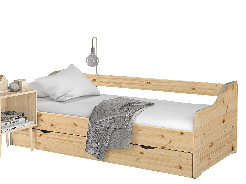loft24 melissa ausziehbett 90x200 cm bett mit bettkasten kinderbett funktionsbett kojenbett bettgestell gastebett tagesbett couchbett kiefer