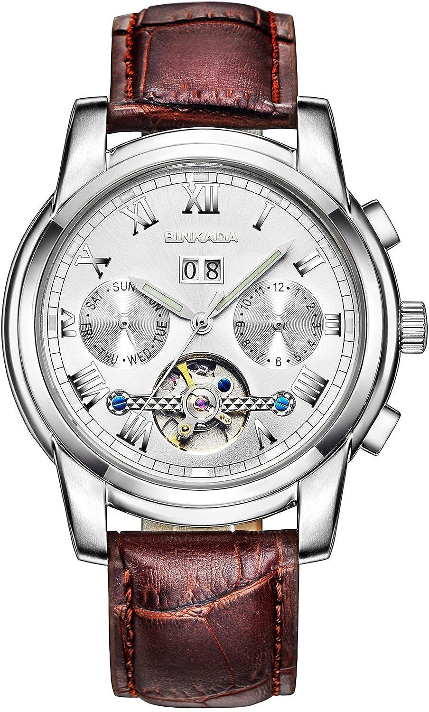 BINKADA自動機械ホワイトダイヤルメンズ腕時計# 7062l02 – 1 B01DZMFZ5E