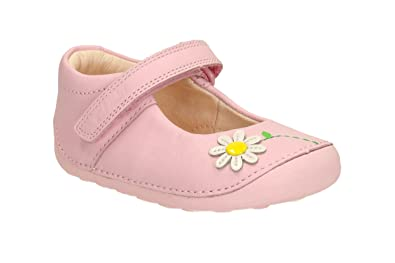 b70531e354e9d Clarks Little Jam Girls Leather Prewalkers 3 F Baby Pink