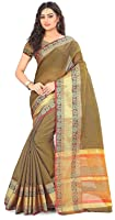 Royal Export Cotton Silk Saree With Blouse Piece (S10 Hrd_Orange_Free Size)