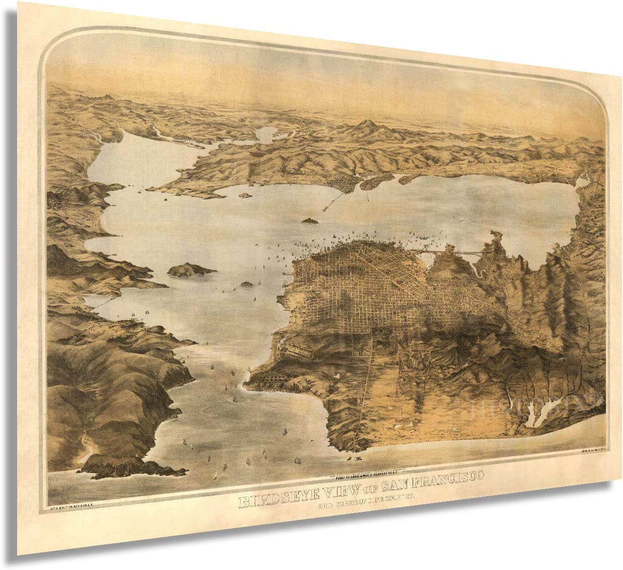 Amazon Com Historix Vintage 1876 San Francisco Bay Area Map Art 16x24 Inch Vintage Map Wall Art Map Of Bay Area Poster San Francisco Map Poster San Francisco Map Most relevant best selling latest uploads. art 16x24 inch vintage map wall art