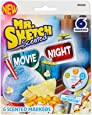 Mr. Sketch Scented Watercolor Markers, Chisel-Tip, Movie Night Colors, 6-Count