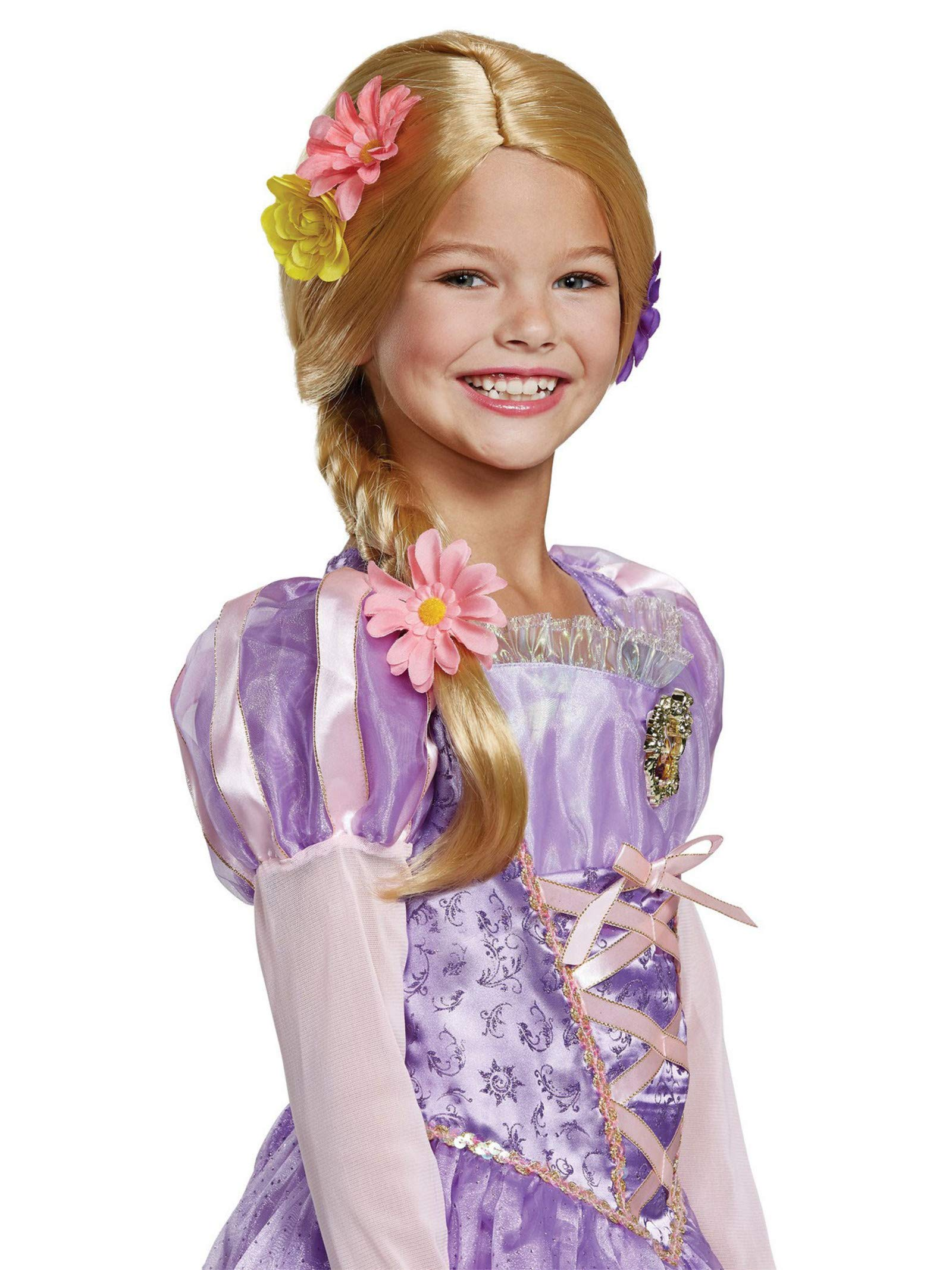 Disney Princess Rapunzel Tangled Deluxe Girls' Wig by Disguise