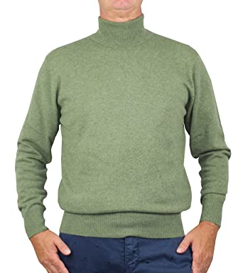 on wholesale fashion style where to buy Pull à col roulé 1st American 100% Cachemire - Pull Homme Manches Longues a  col cheminée - Tricot d'hiver Pure Cachemire