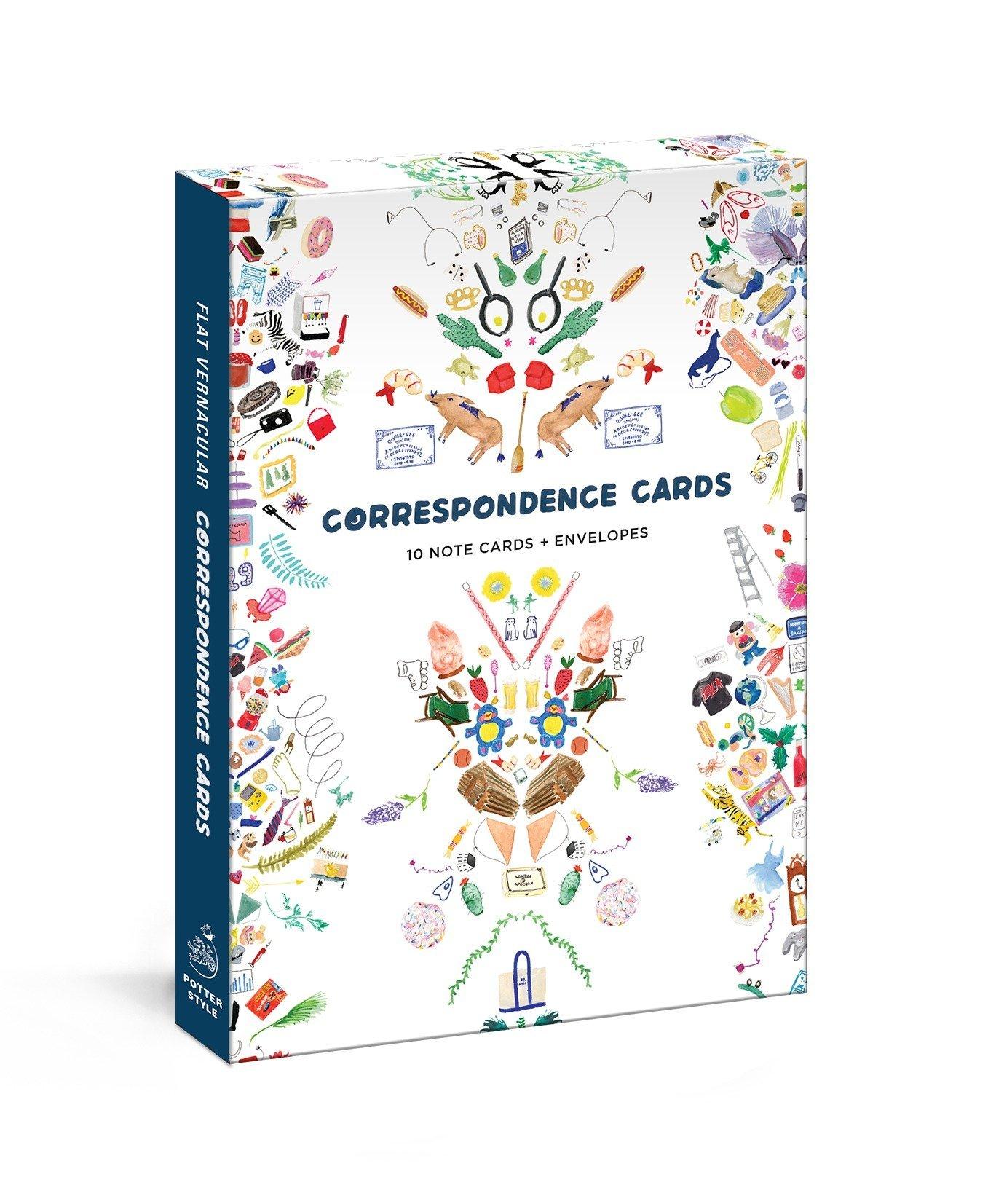 Flat Vernacular Correspondence Cards: 10 Note Cards + Envelopes PDF