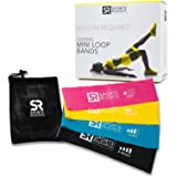 Sweet Sweat Mini-Loop Bands with 4 levels of resistance - Includes Carrying bag and Workout guide