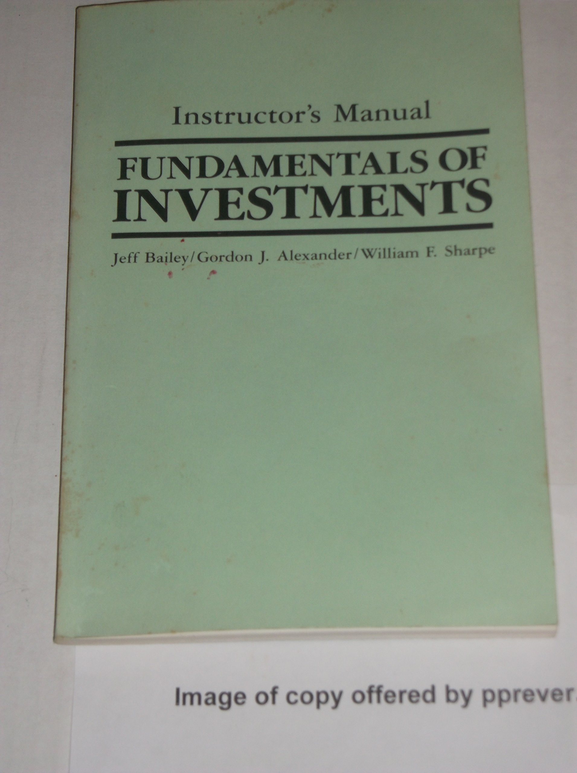 instructor s manual fundamentals of investments by gordon j rh amazon com