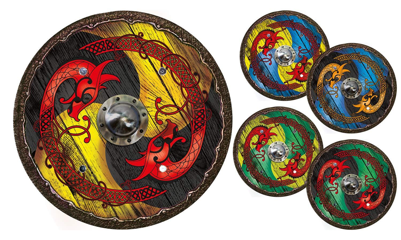 Viking shield dragon yellow-black