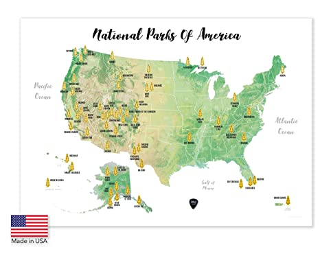 National Parks United States Map | Map nhautoservice