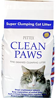 PETTEX - Arena para Gatos Clean Paws, Micro granulada, de agrupamiento Súper, 5