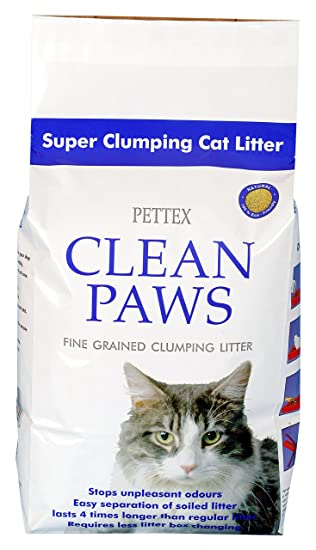 PETTEX - Arena para Gatos Clean Paws, Micro granulada, de agrupamiento Súper, 5 kg: Amazon.es: Productos para mascotas