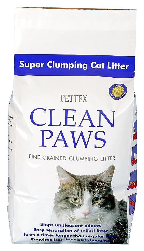 Pettex - Arena para Gatos Clean Paws, Micro granulada, de agrupamiento Súper, 5 kg