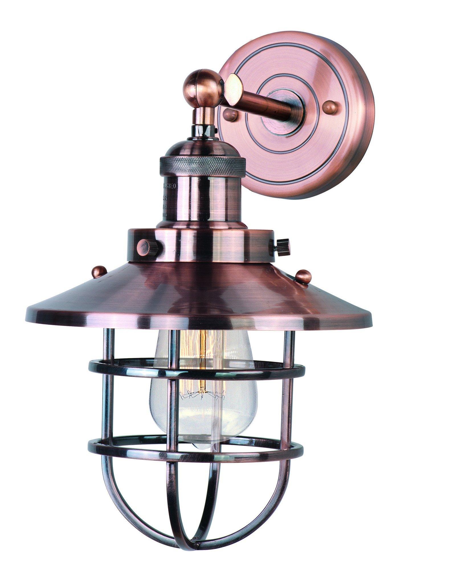 Maxim Lighting 25070ACP Mini Hi-Bay-Wall Sconce 1-Light, Antique Copper