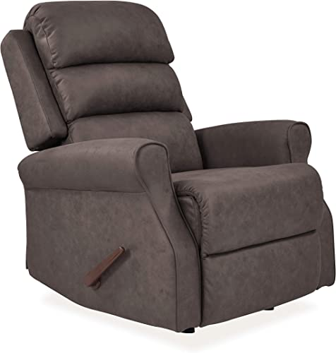 Domesis Leda Rocker Recliner Chair Coffee Brown