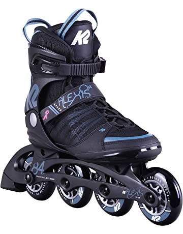 K2 Skates Damen Inline Skate Alexis 84 Speed Alu — Black – Steel Blue — EU