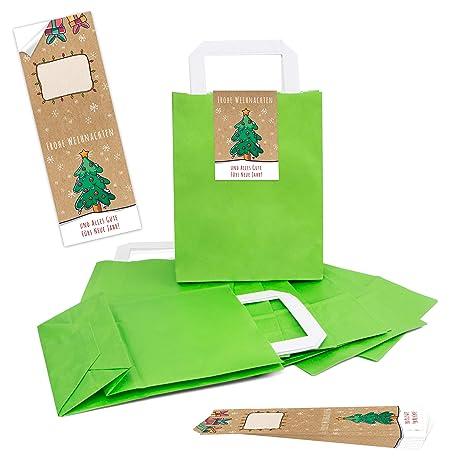 Buon Natale 118.100 Chiaro Verde Naturale Carta Kraft Carta Sacchetto Regalo Borsa