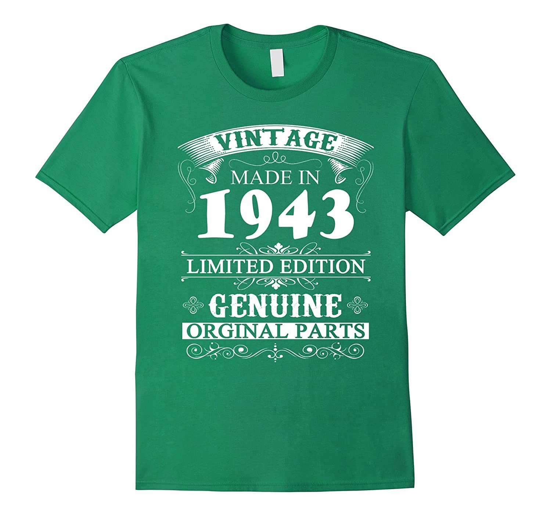 Vintage 1943 74 years old - 74th Birthday Tshirt-CD