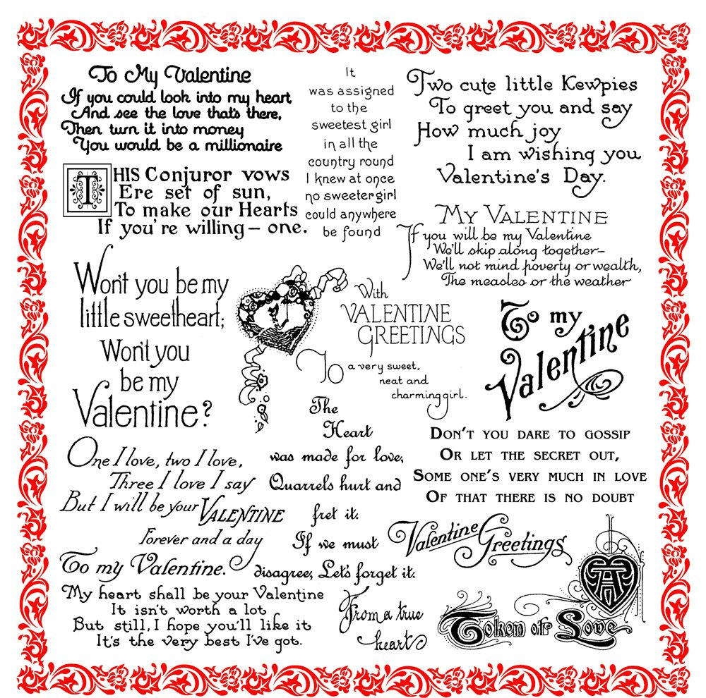 Valentine's Day Greetings - Sweetheart Valentine//Clear stamps pack (7x7) FLONZ