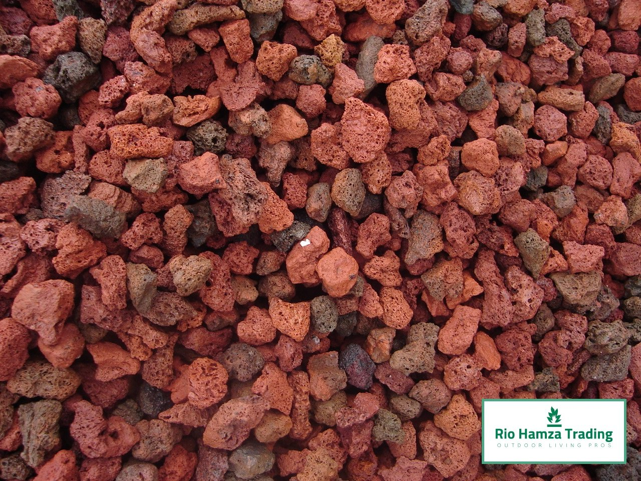 Rio Hamza Trading Red Lava Rocks (12-lbs) All Natural Medium Size Lava Rocks 1''-2'' Size Rocks