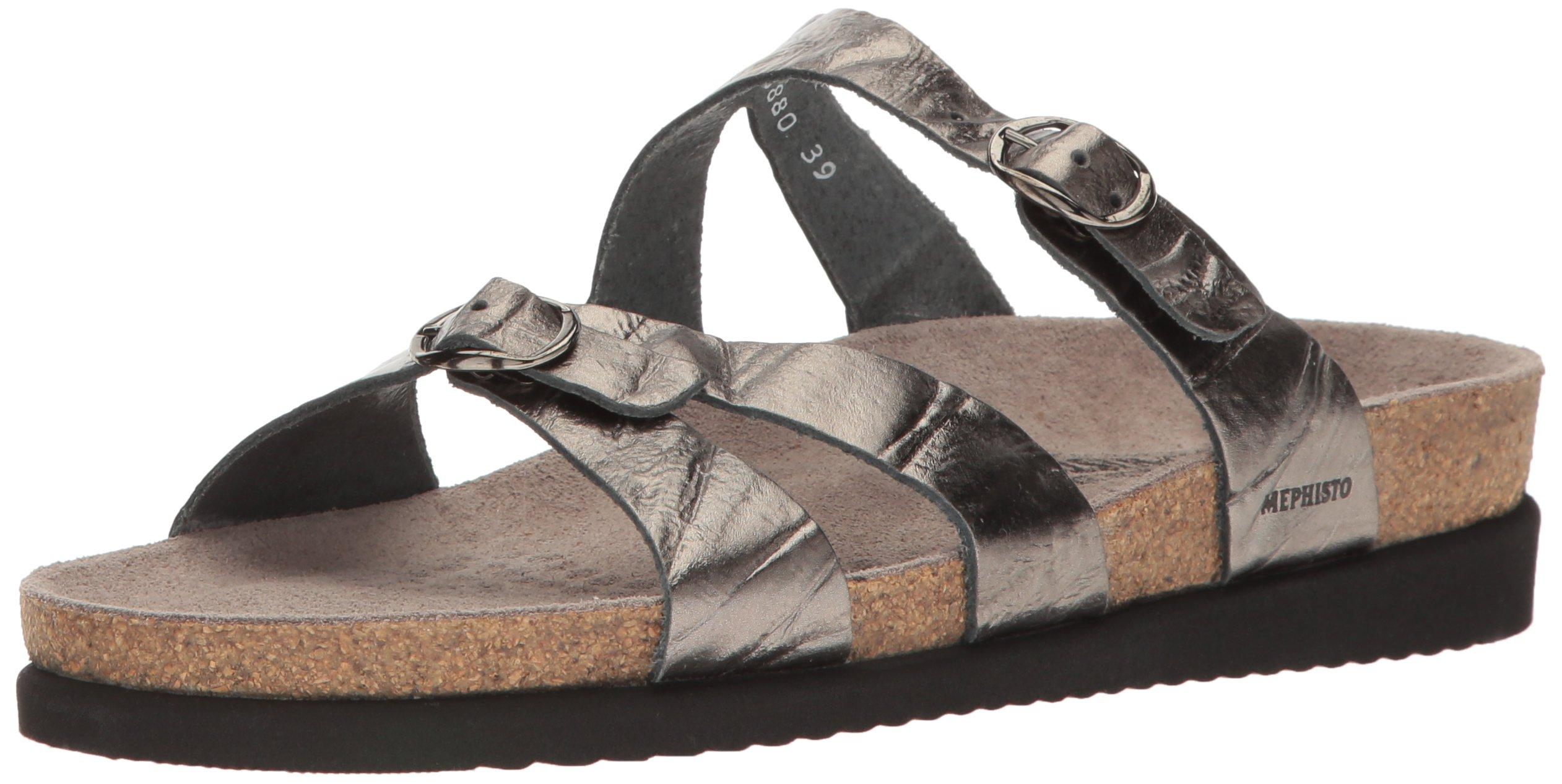Mephisto Women's Hannel Slide Sandal, Grey Etna, 9 M US