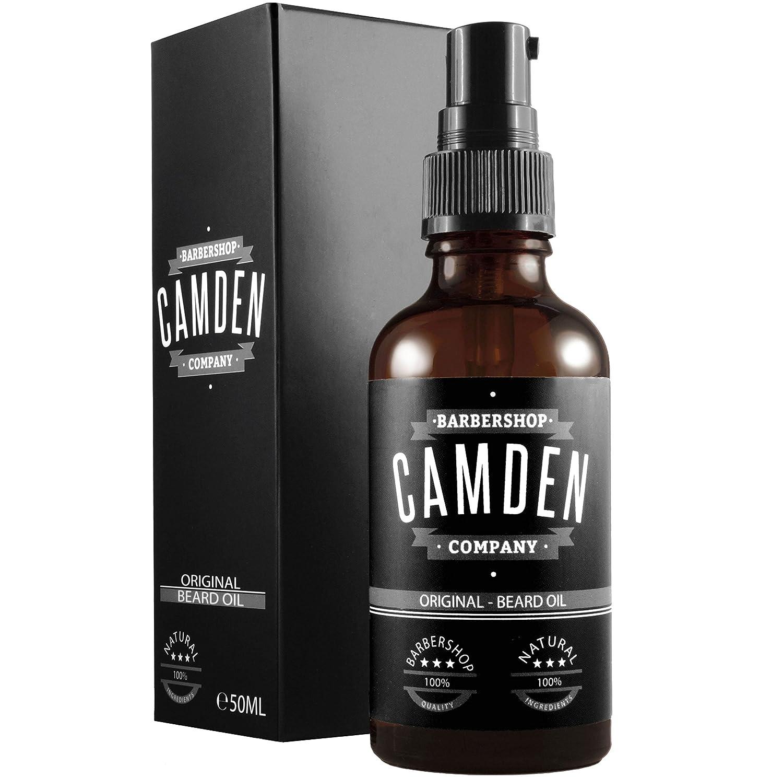 ● GANADOR DEL TEST 06/2018 ● Aceite para barba ORIGINAL de Camden Barbershop Company ● cuidado de la barba completamente natural ● refrescante y suavizante ● 0722208222007