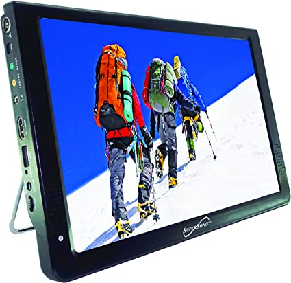 Supersonic 9 Inch Portable Digital LCD TV AC//DC Compatible w// Built-in Battery