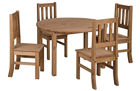 Mercers Furniture Corona Drop Leaf Dining Table And 4 Chairs   Pine