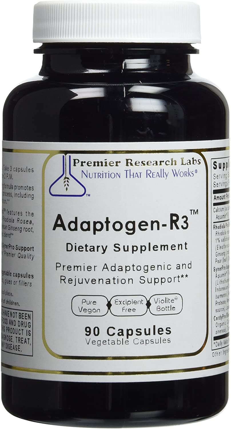 Premier Research Labs Adaptogen-R3-90 Vegetable Capsules 2 Pack