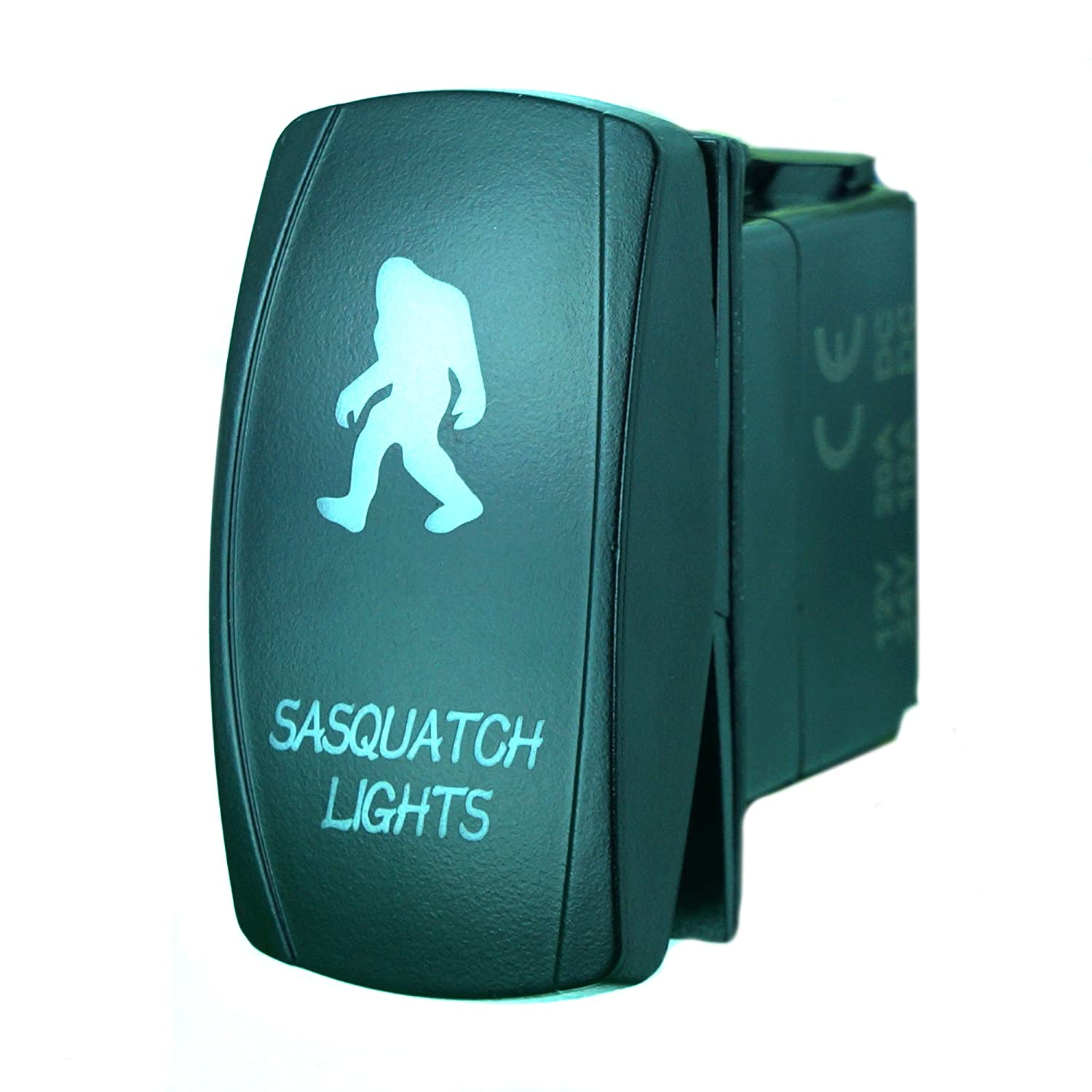 Stvmotorsports Laser Blue Rocker Switch Sasquatch Lights Headlight Relay 92 Chevy Pickup Besides 77 Truck Wiring Diagram 20a 12v On Off Led Light Automotive