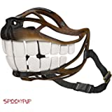SpookyPup Hilarious Dog Costume Muzzle with Large Teeth – Turn Your Dog into a Fun-loving, Cute and Happy Friend