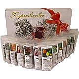 Tee Probierpaket Winter im tollen Geschenkpaket 12 x 25 g - Raritäten - Winterbox