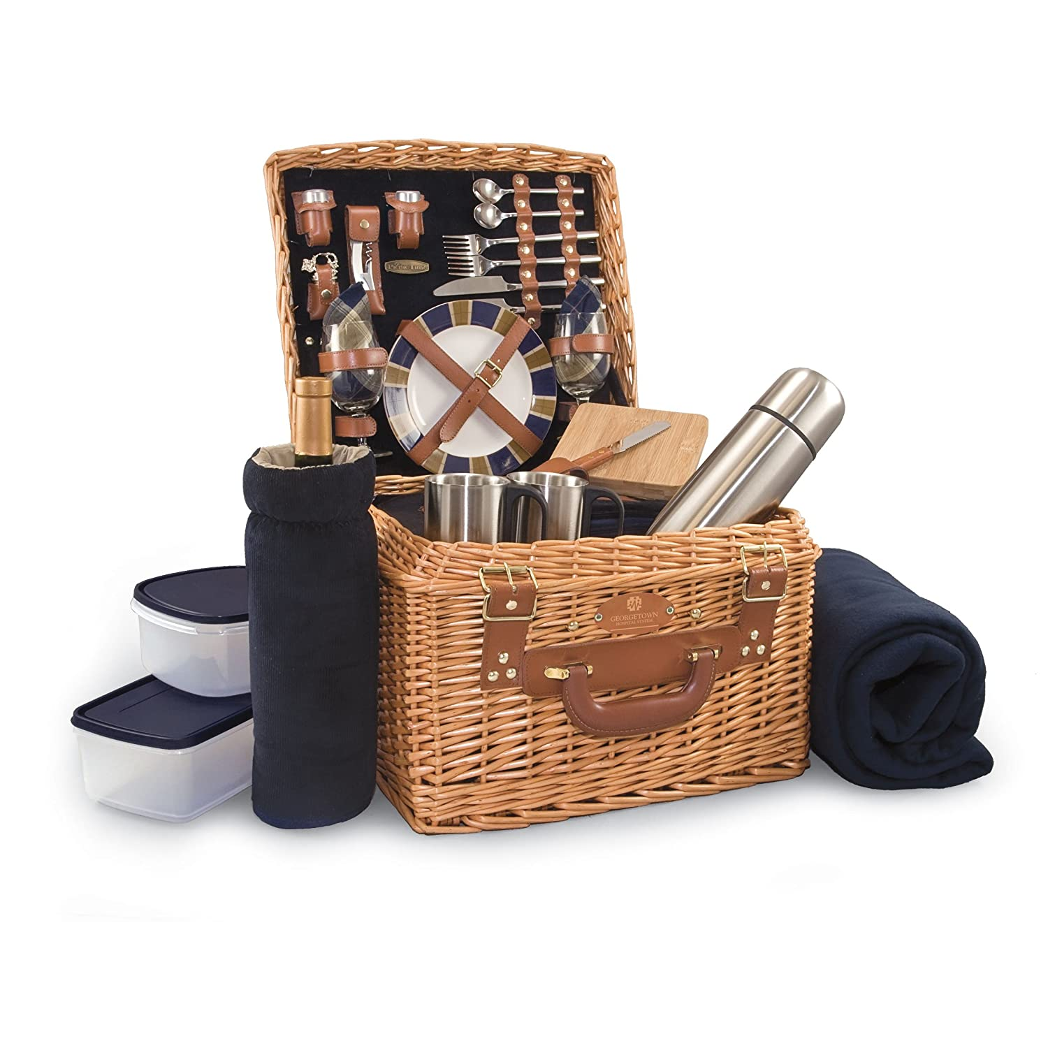 Picnic Time 'Canterbury' English Style Picnic Basket with Deluxe Service for Two