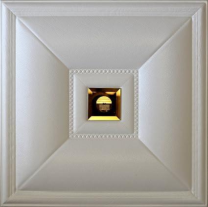 3d simili cuir Panneau mural Lt-11 Blanc Cognac Miroir. Lot de 6 ...
