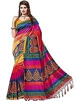 Jashvi Creation Women's Cotton Silk Saree (Low Price_Multi Color_Sadi/Sarees/Sari)