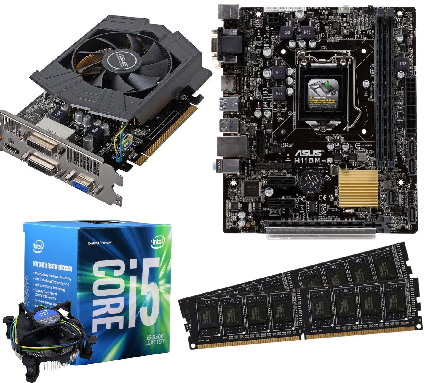 Placa base Asus h110 m-r Bundle (3.6GHz Intel Core i5 6500, Asus Gtx 750 Ti 2 GB, 16 GB 2133 MHz DDR4 RAM) - 348528: Amazon.es: Informática