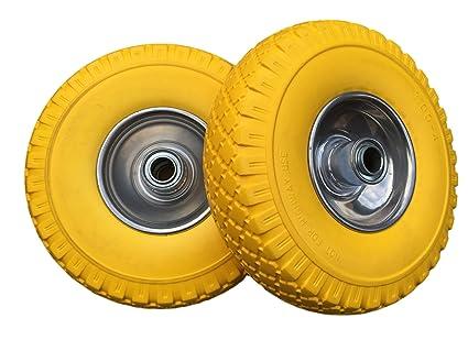 2 x frosal Rueda de poliuretano Carretillas de carro carretilla | Rueda de repuesto | Neumáticos