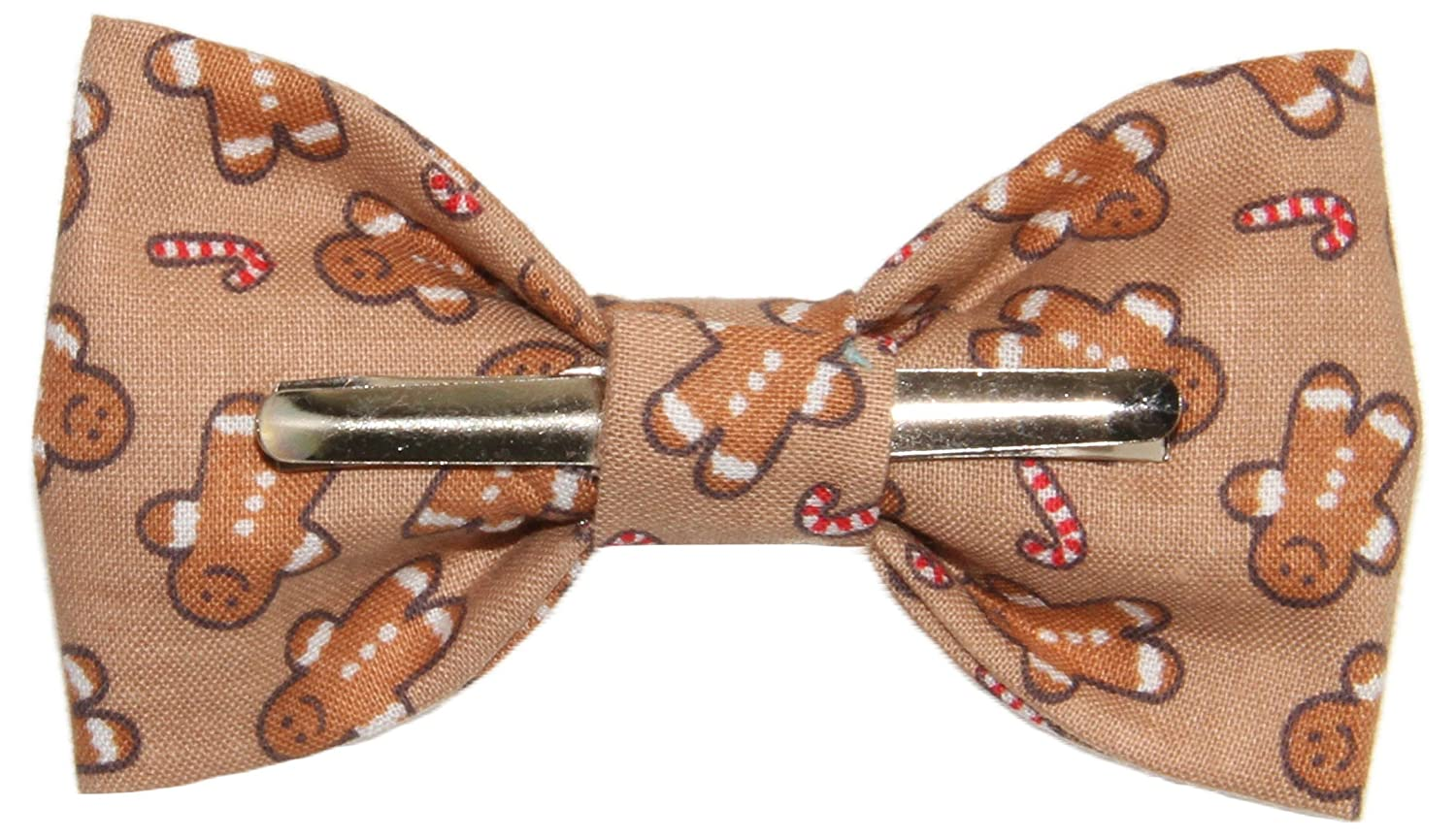 Toddler Boy 4T 5T Gingerbread Man Cotton Clip On Bow Tie