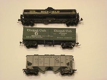 Amazon.com: Modelo de tres diferentes HO tren Cars: Toys & Games