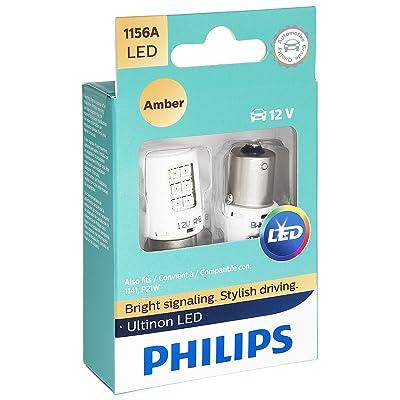 Philips 1156 Ultinon LED Bulb (Amber), 2 Pack: Automotive