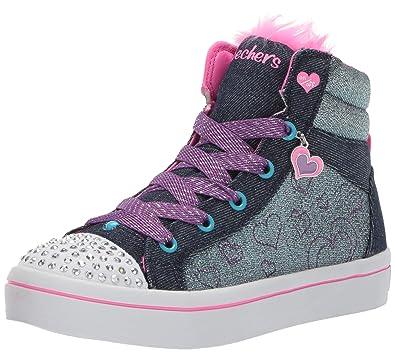 Blau Skechers Twinkle Toes Twi Lites Fashion Flip S Lights